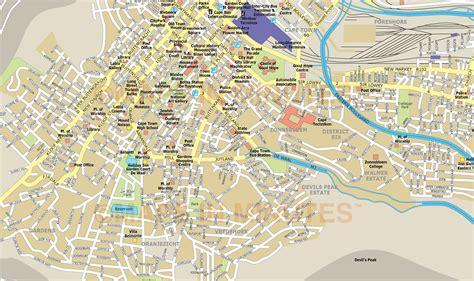 cape town city map  illustrator   digital vector maps