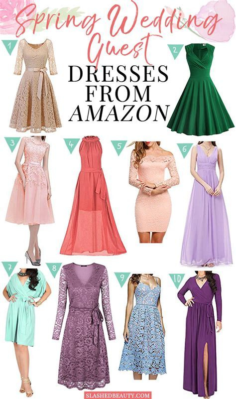 10 Spring Wedding Guest Dresses from Amazon   Slashed Beauty