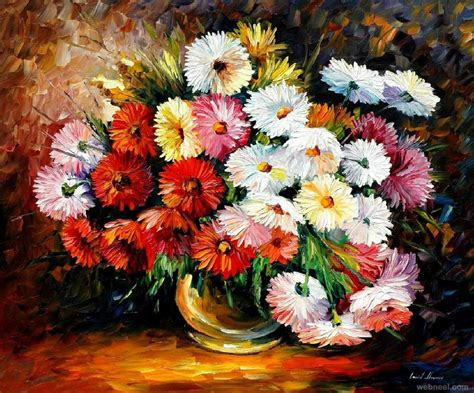 paintings of flowers flower paintings 11