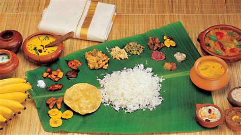 Sadya   the traditional vegetarian feast of Keralites