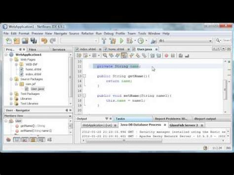 tutorial java faces java server faces tutorial 4 managed bean youtube