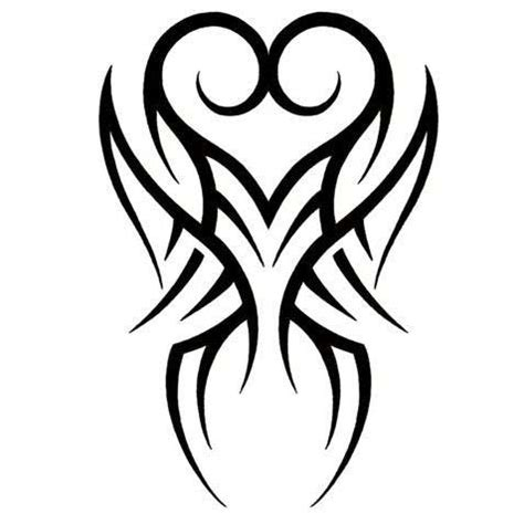tribal pattern heart pics for gt tattoo heart tribal