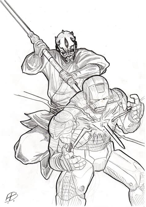 star wars darth maul coloring coloring pages