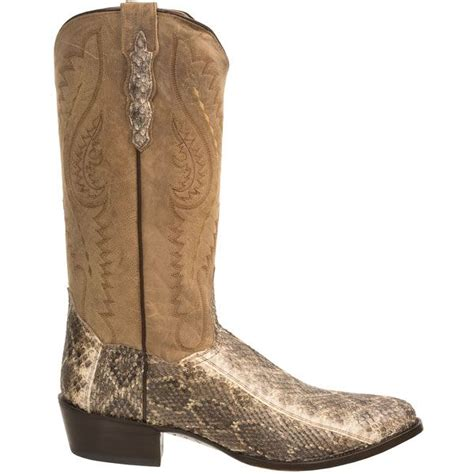 mens rattlesnake skin boots dan post cowboy boots for 1898t save 42