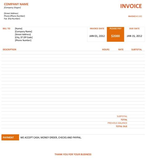 graphic design invoice