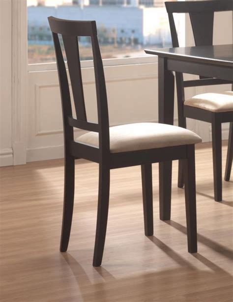 coaster 150181n black wood dining table and chair set