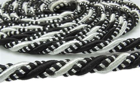 Upholstery Trim Cord - black upholstery trim braided lip cord curtain tie back