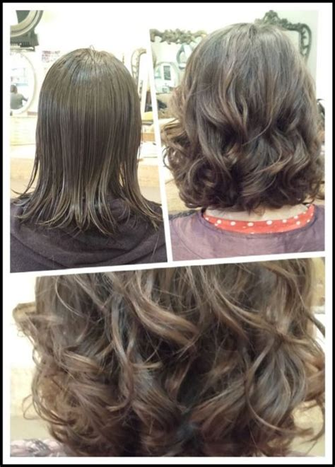 body wave perm on medium hair medium volume digital perm create by four mirrors