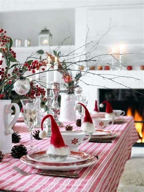 christmas table settings 40 christmas table decoration ideas