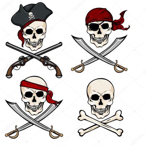 imagenes de calaveras piratas cartoon pirate skulls stock vector 169 nikiteev 51802411