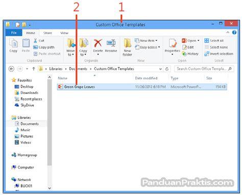 cara membuat presentasi video di powerpoint cara menyimpan presentasi sebagai template dan menggunakan