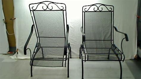 Plantation Patterns Patio Furniture Plantation Patterns Napa 2 Wrought Iron Dynalounge Patio Chair Set Black Ebay