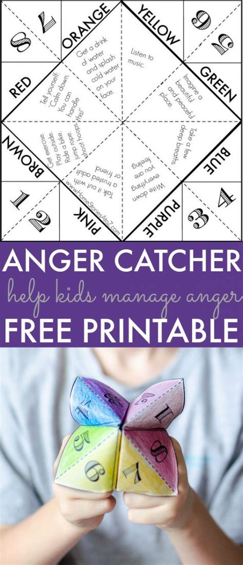 Colors That Calm You Down Help Kids Manage Anger Free Printable Game
