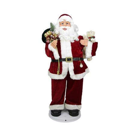 walmart singing and dancing santa claus 3 deluxe animated and musical decorative santa claus figure walmart