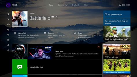 one update the new xbox one dashboard and guide is out today