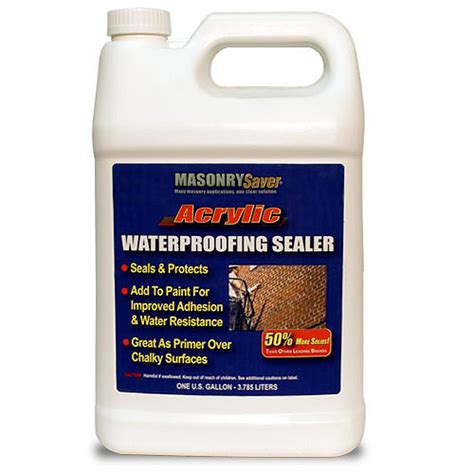 Acrylic Sealer masonrysaver acrylic waterproofing sealer gal