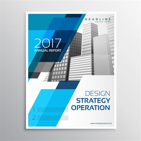 Stylish Blue Brochure Template Design Download Free Vector Art Stock Graphics Images Template Design