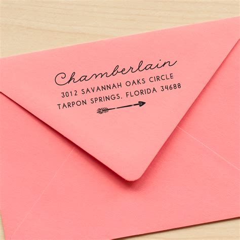 personalized rubber sts return address arrow address st custom return address st