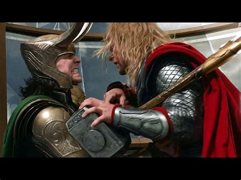 thor movie kiss scene thor vs loki fight scene the avengers movie clip hd