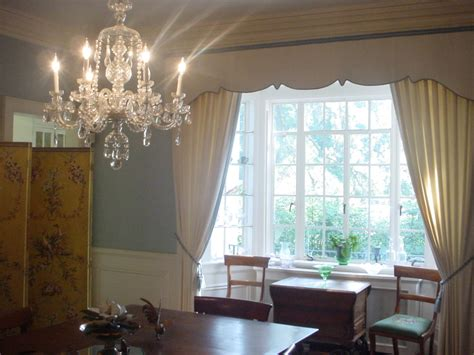 dining room bay window treatments dining room bright crystal chandelier in classic dining