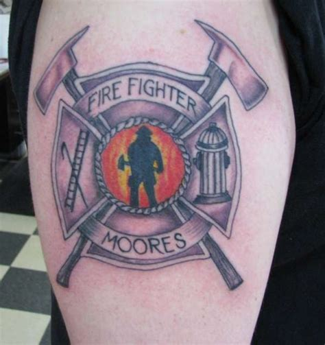 firefighter maltese cross tattoos maltese cross