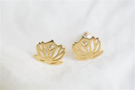 lotus flower earring earrings earrings stud earrings