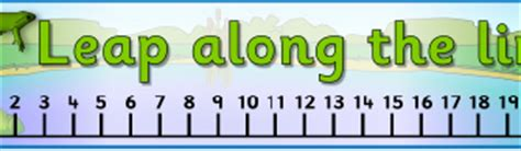 free printable number line banner german counting resources and printables sparklebox germany