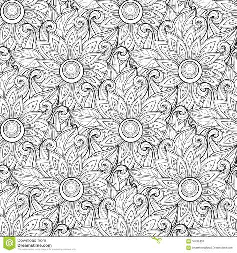 seamless pattern monochrome vector seamless monochrome floral pattern cartoon vector