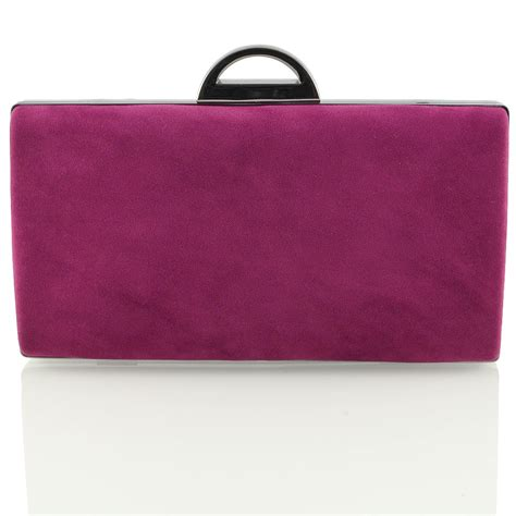 womens clutch bags c new womens faux suede clutch bag ladies bridal evening