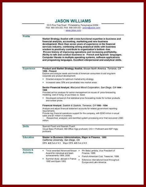 preparing a cv template personal statement sle business administration