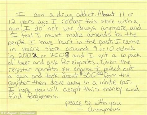 Apology Letter To Your S Parents Apology Letter Begins I Am A Addict Seeks Forgiveness For 12 Yr Robbery Fox4kc