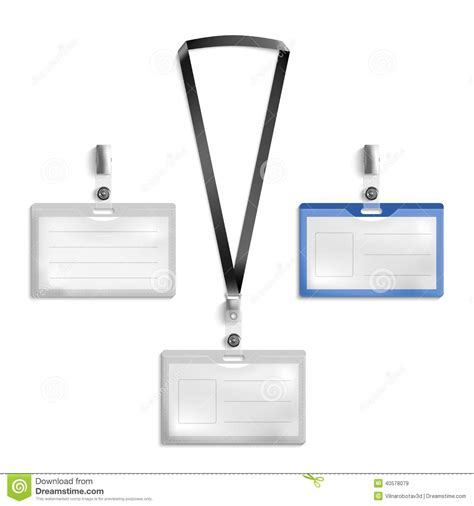 Tag Holder Stock Vector Image 40578079 Lanyard Name Badge Template