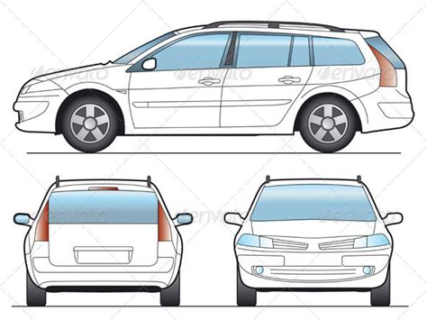 Station Wagon Car Template By Faberfoto Graphicriver Station Vehicle Templates