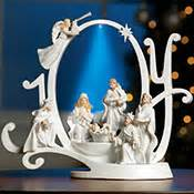 nativity bunny led fibre optic fiber optic silent nativity wall hanging from collections etc