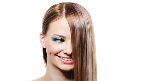 long hairstyle keep hair away from face stylized face model long hair brunette looking away