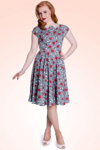 41810 Flowers Dress 40s francine dress in light blue