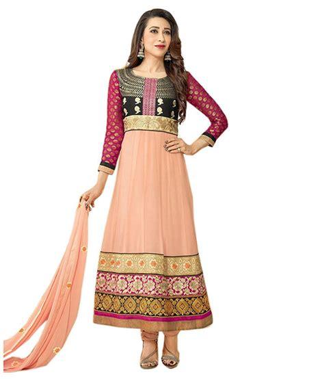 latest anarkali dress craftsvilla indian wear online pink others unstitched dress material