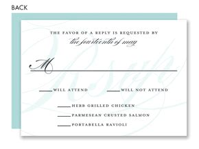 Bliss Gift Card Amount - eternal bliss blue response cards by noteworthy collections at invitationbox com