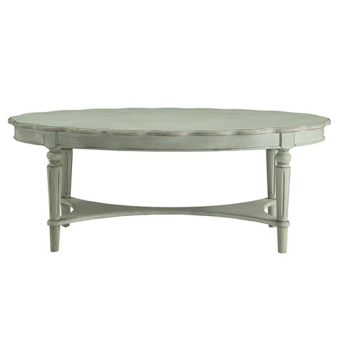 Acme Coffee Table Acme Furniture Fordon Coffee Table In Antique Green 82910 The Home Depot