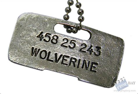 wolverine tags wolverine tag prop from x2 united 2003 memorabilia