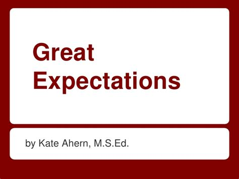 great expectations themes slideshare great expectations