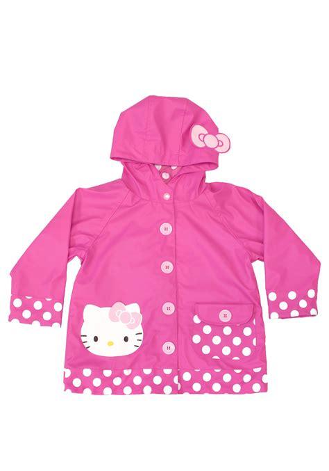 in raincoat hello pink child raincoat