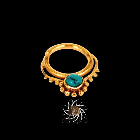 gold septum ring 16g septum ring septum jewelry septum