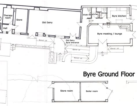 design and layout of dairy farm old dairy hall ceridwen centre