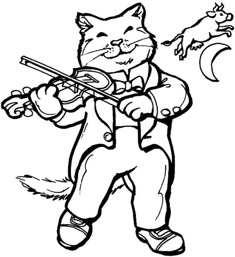 cats musical coloring pages 21 best images about hey diddle diddle on pinterest cats