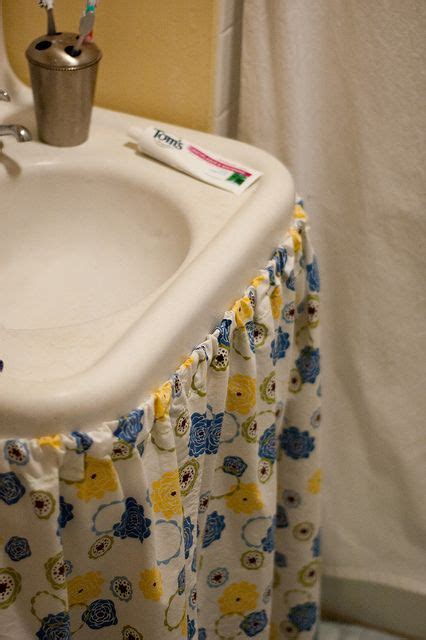 how to make a bathroom sink skirt 25 best ideas about bathroom sink skirt on