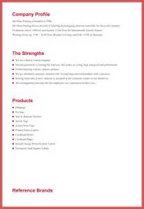free template company profile design company profile sle templates create a professional