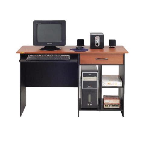 Meja Laptop Ada Laci Nya jual md furniture meja komputer 1 laci dan keyboard tray 116 harga kualitas