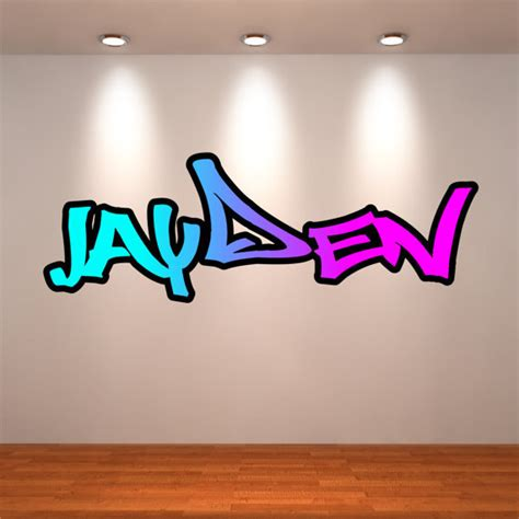 graffiti wall stickers personalised personalised graffiti name wall decals wall sticker