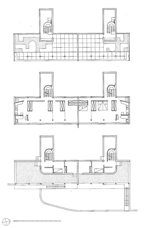 Floor Plan For House gallery of ad classics weissenhof siedlung houses 14 and